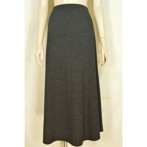 Eileen Fisher skirt M full asymmetrical 100% wool